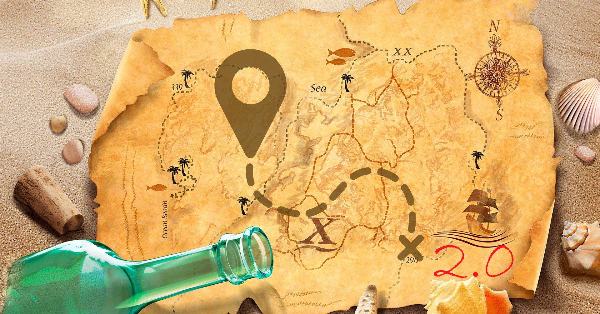 Как сделать карту сокровищь с помощьюколлажа